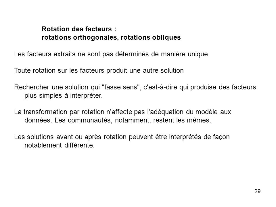 Rotation des facteurs :