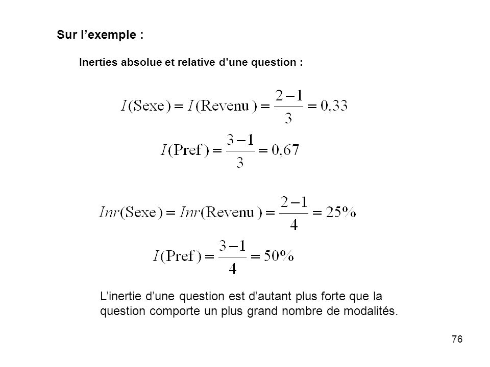 Sur l'exemple : Inerties absolue et relative d'une question :