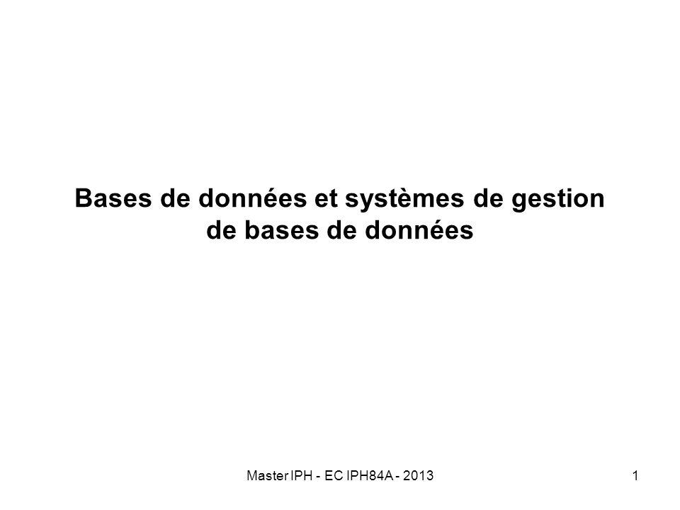 Bases de données et systèmes de gestion de bases de données