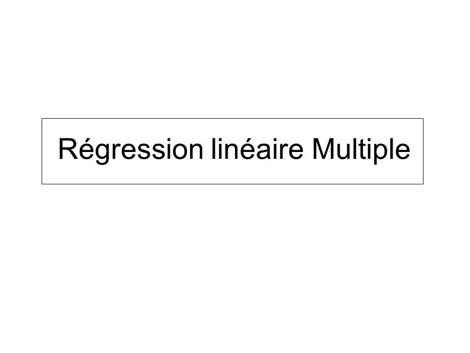 Régression linéaire Multiple