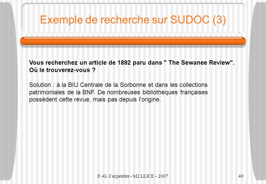 Exemple de recherche sur SUDOC (3)