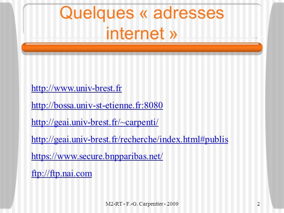 Quelques « adresses internet »