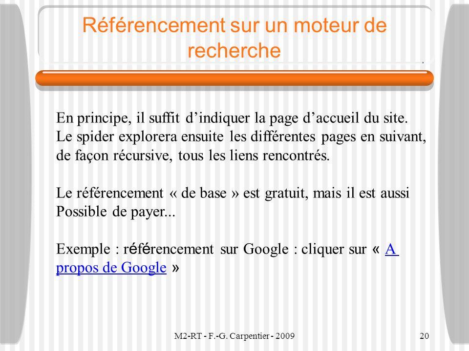 Référencement sur un moteur de recherche