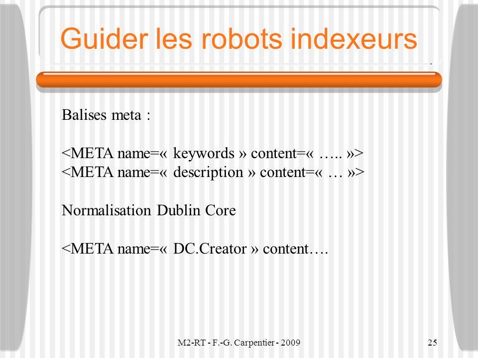 Guider les robots indexeurs