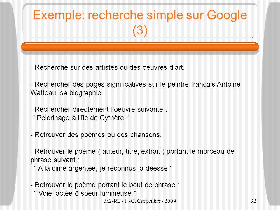 Exemple: recherche simple sur Google (3)