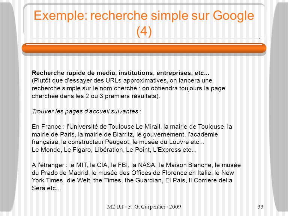 Exemple: recherche simple sur Google (4)