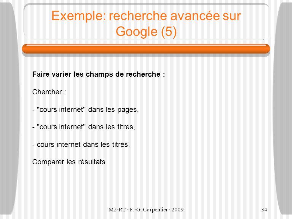 Exemple: recherche avancée sur Google (5)