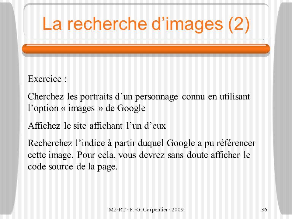 La recherche d'images (2)