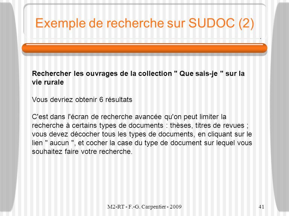 Exemple de recherche sur SUDOC (2)