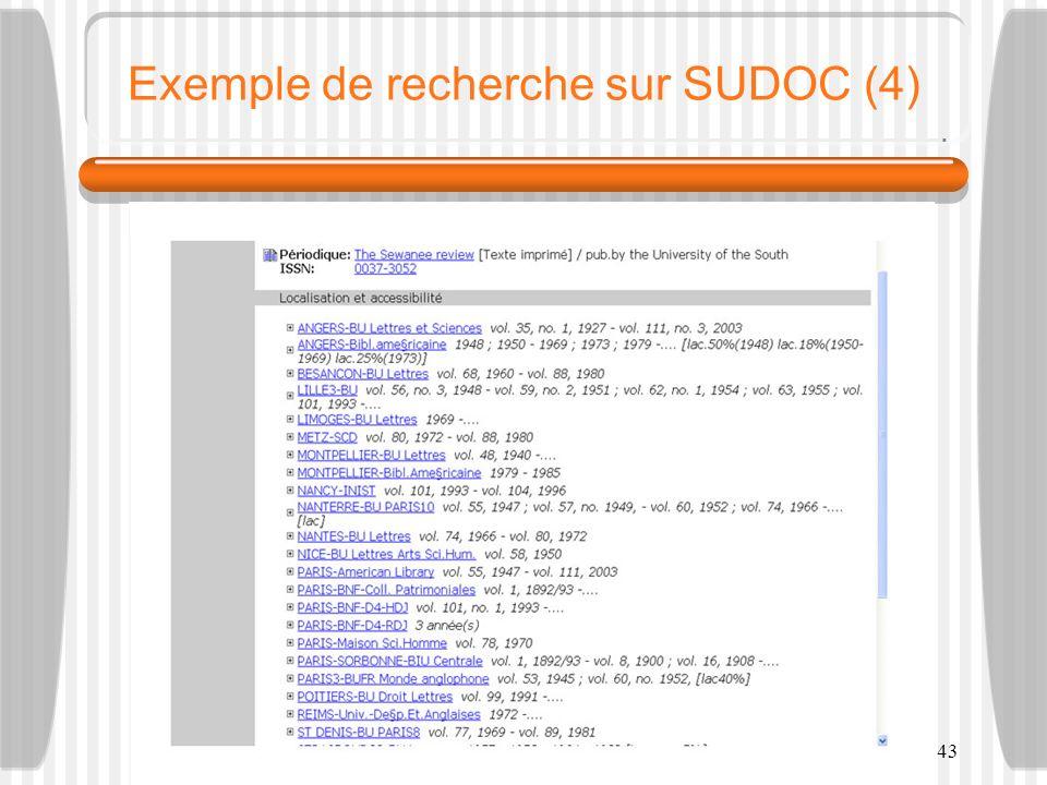 Exemple de recherche sur SUDOC (4)