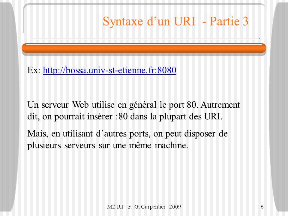 Syntaxe d'un URI - Partie 3