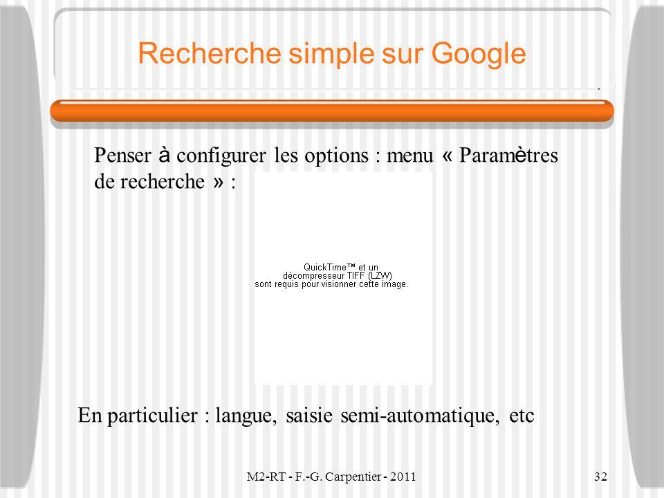 Recherche simple sur Google