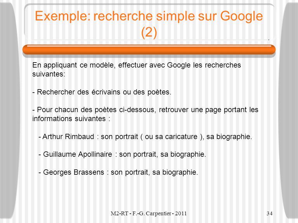 Exemple: recherche simple sur Google (2)