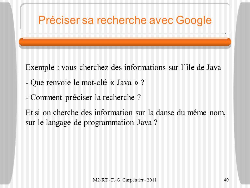 Préciser sa recherche avec Google