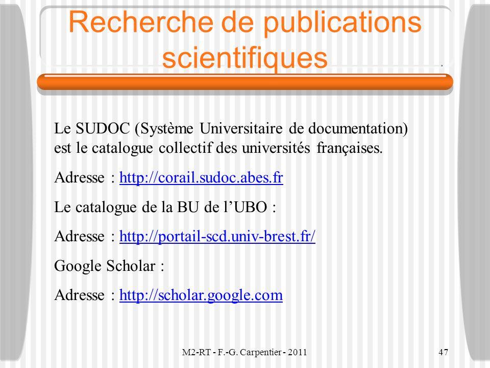 Recherche de publications scientifiques