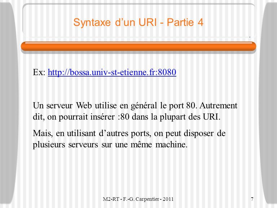 Syntaxe d'un URI - Partie 4