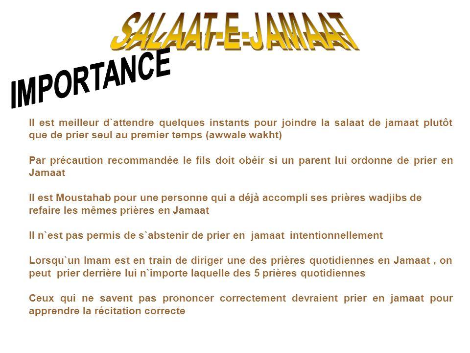 SALAAT-E-JAMAAT IMPORTANCE