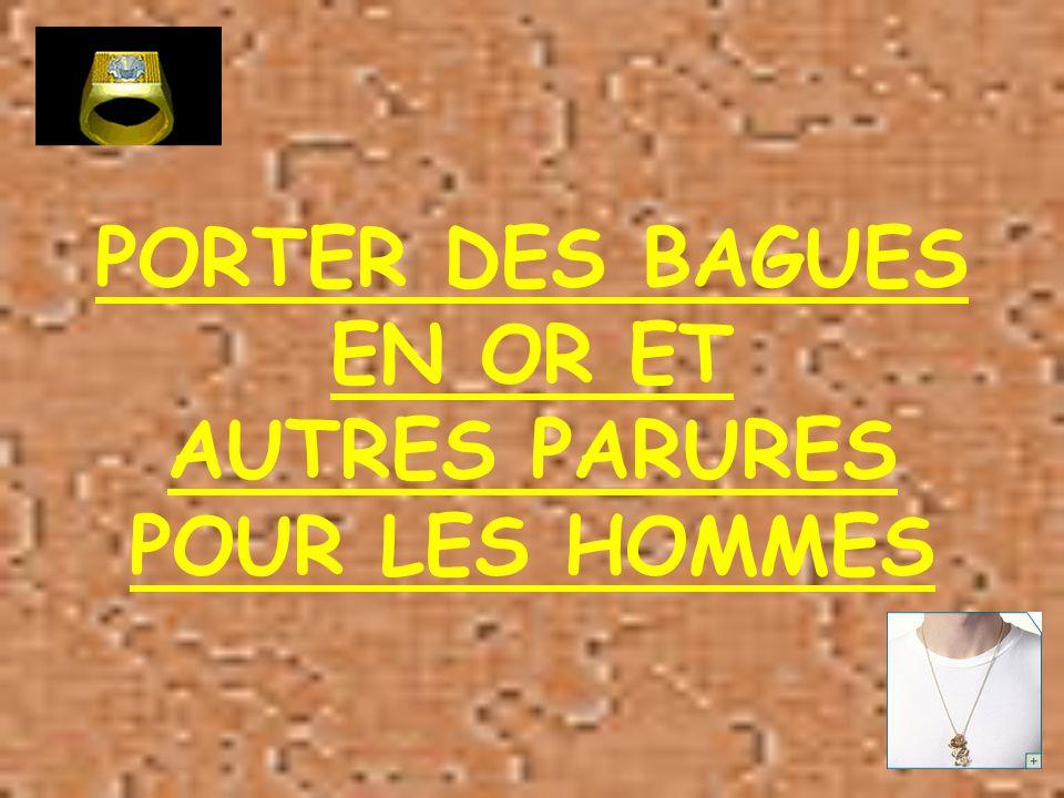 PORTER DES BAGUES EN OR ET