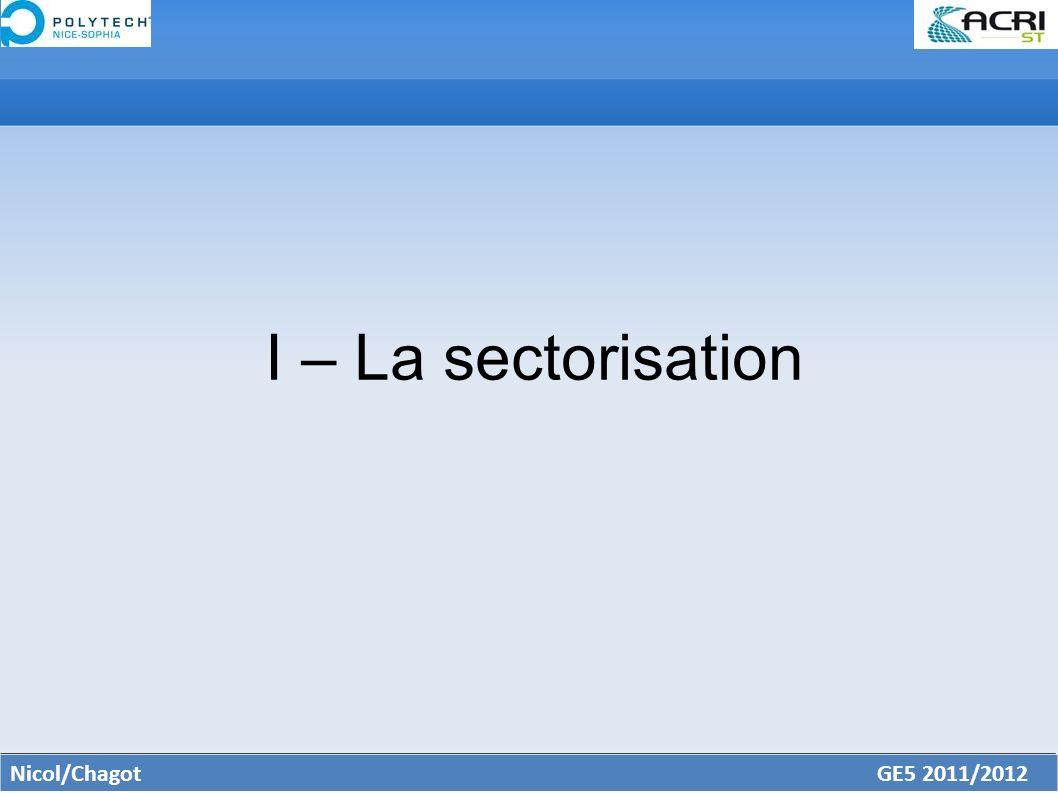 I – La sectorisation