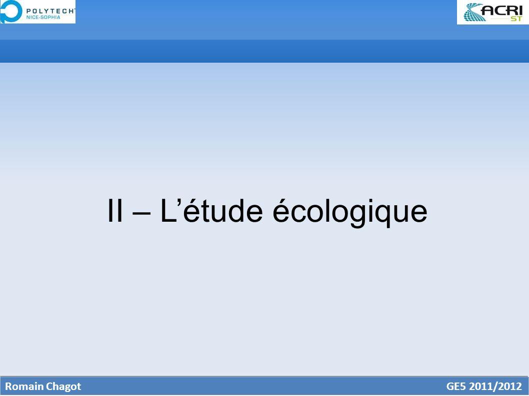II – L'étude écologique