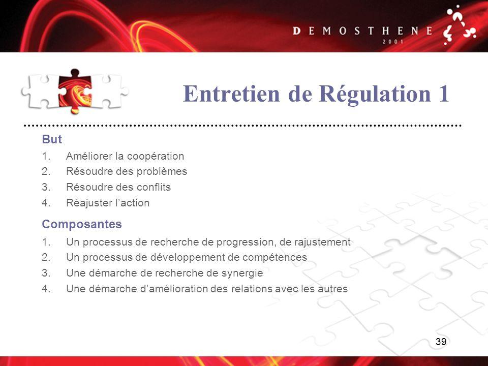 Entretien de Régulation 1