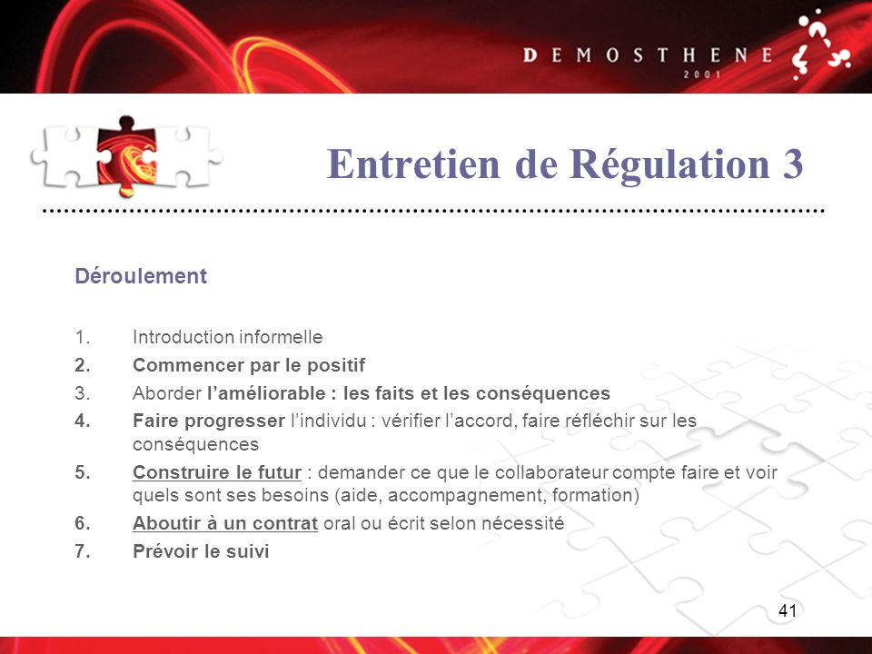 Entretien de Régulation 3