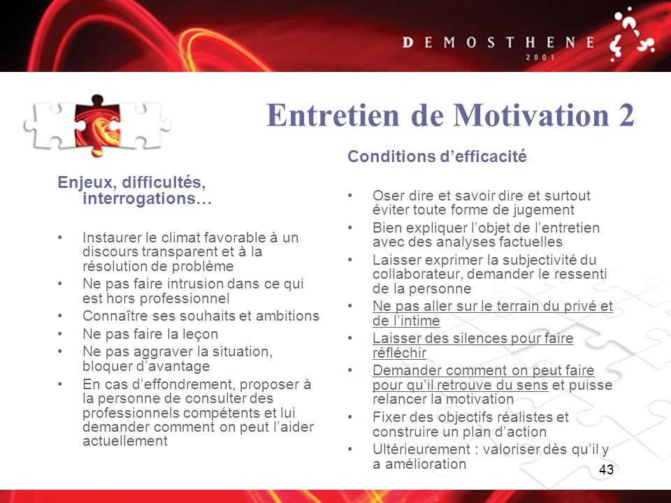 Entretien de Motivation 2