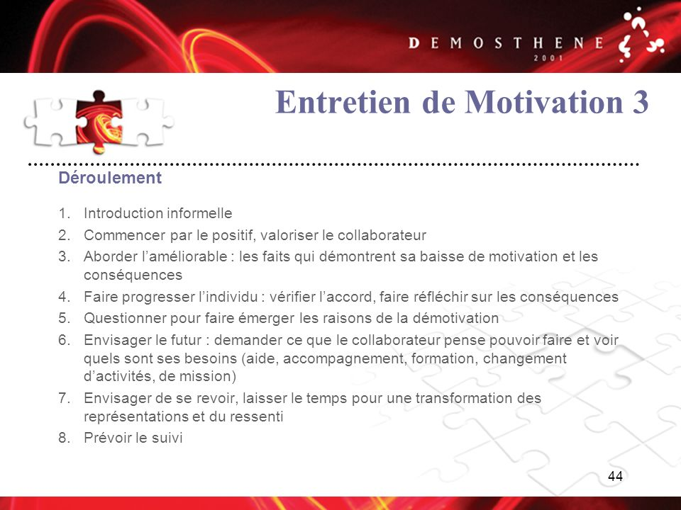 Entretien de Motivation 3