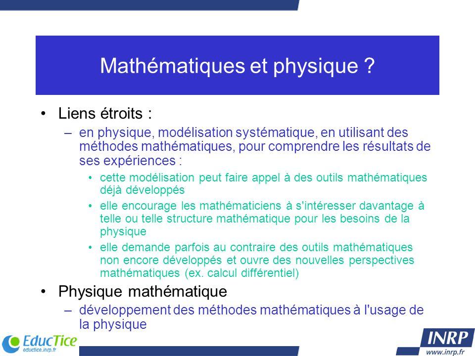 Mathématiques et physique