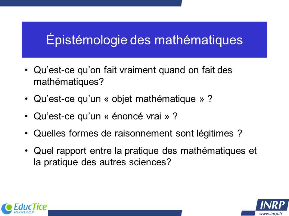 Épistémologie des mathématiques