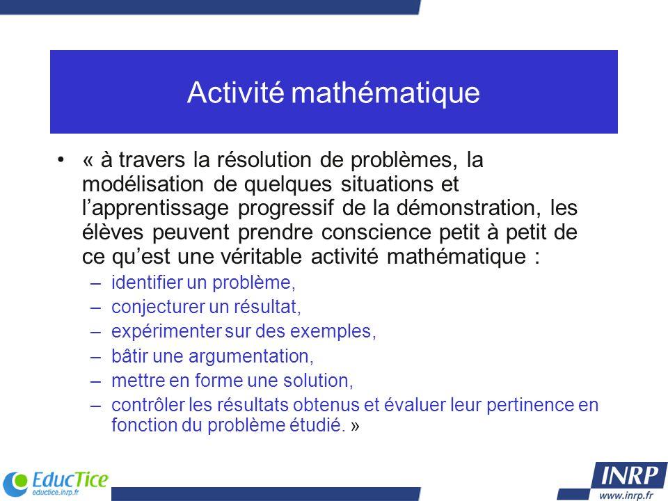 Activité mathématique