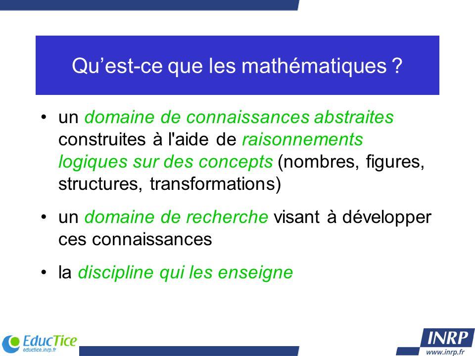 Qu'est-ce que les mathématiques
