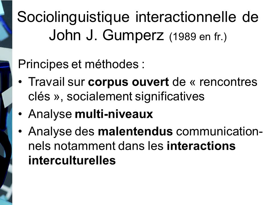 Sociolinguistique interactionnelle de John J. Gumperz (1989 en fr.)