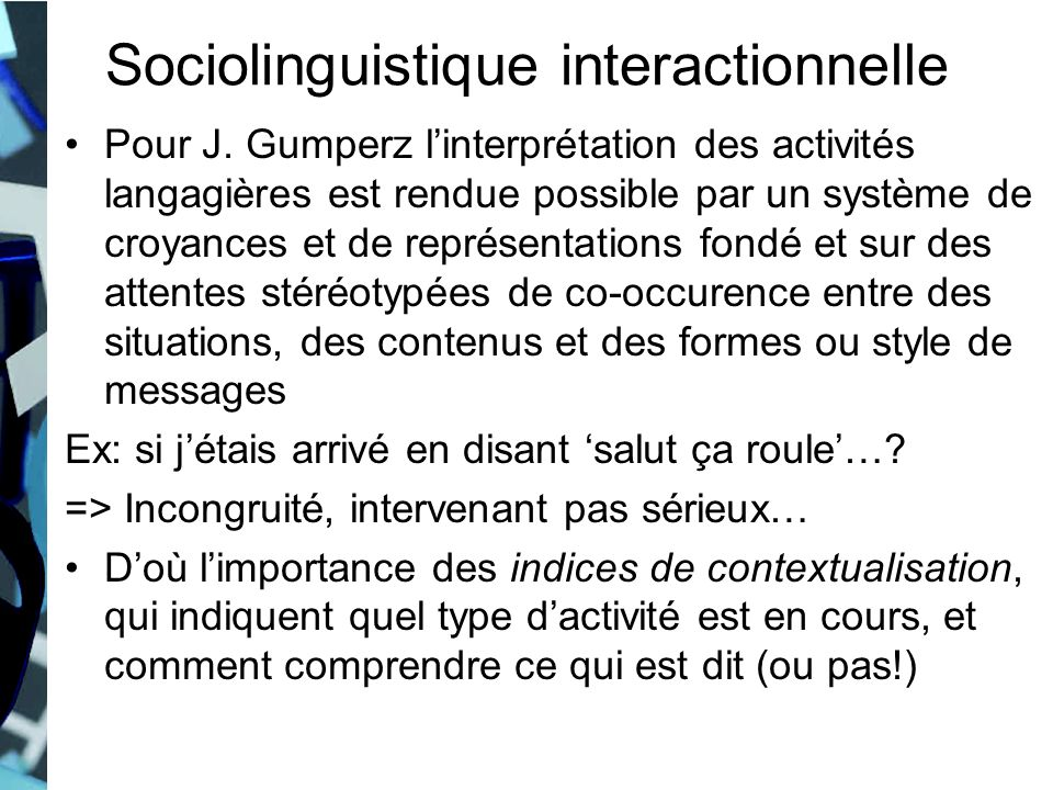 Sociolinguistique interactionnelle