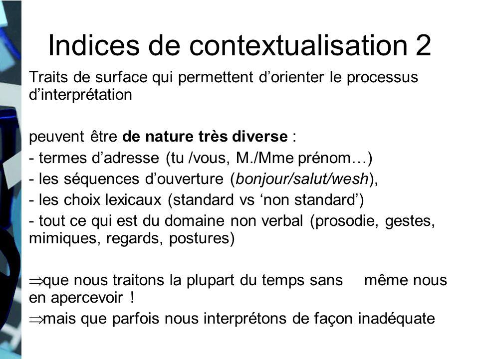 Indices de contextualisation 2