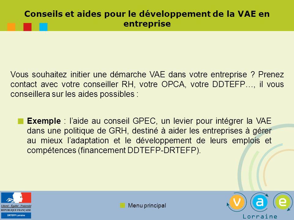 Conseils et aides pour le développement de la VAE en entreprise