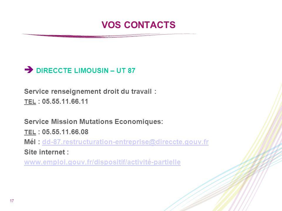  DIRECCTE LIMOUSIN – UT 87