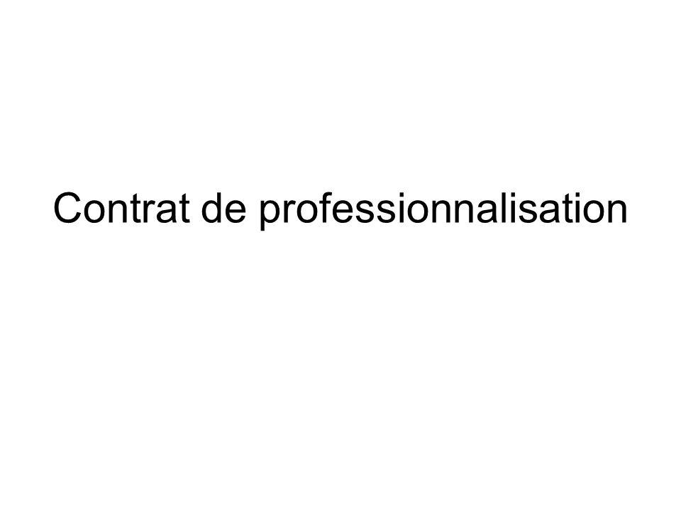 Contrat de professionnalisation