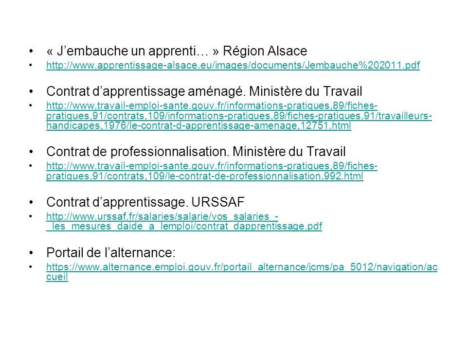 « J'embauche un apprenti… » Région Alsace