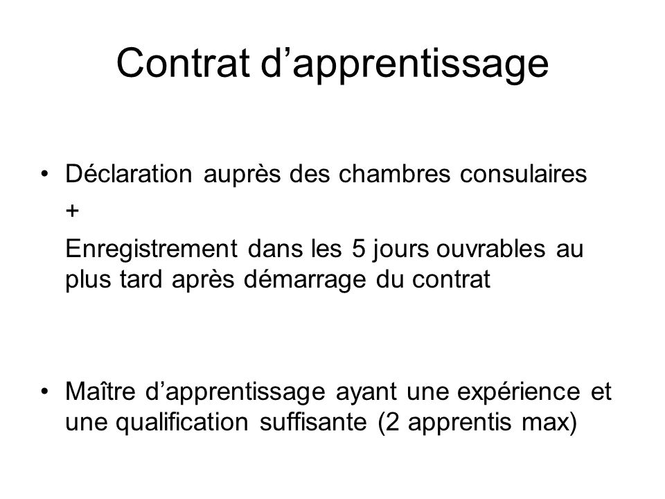 Contrat d apprentissage ppt t l charger for Chambre consulaire apprentissage