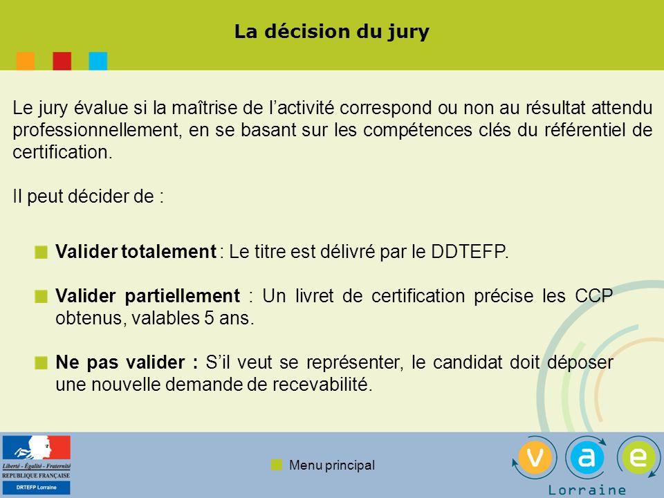La décision du jury