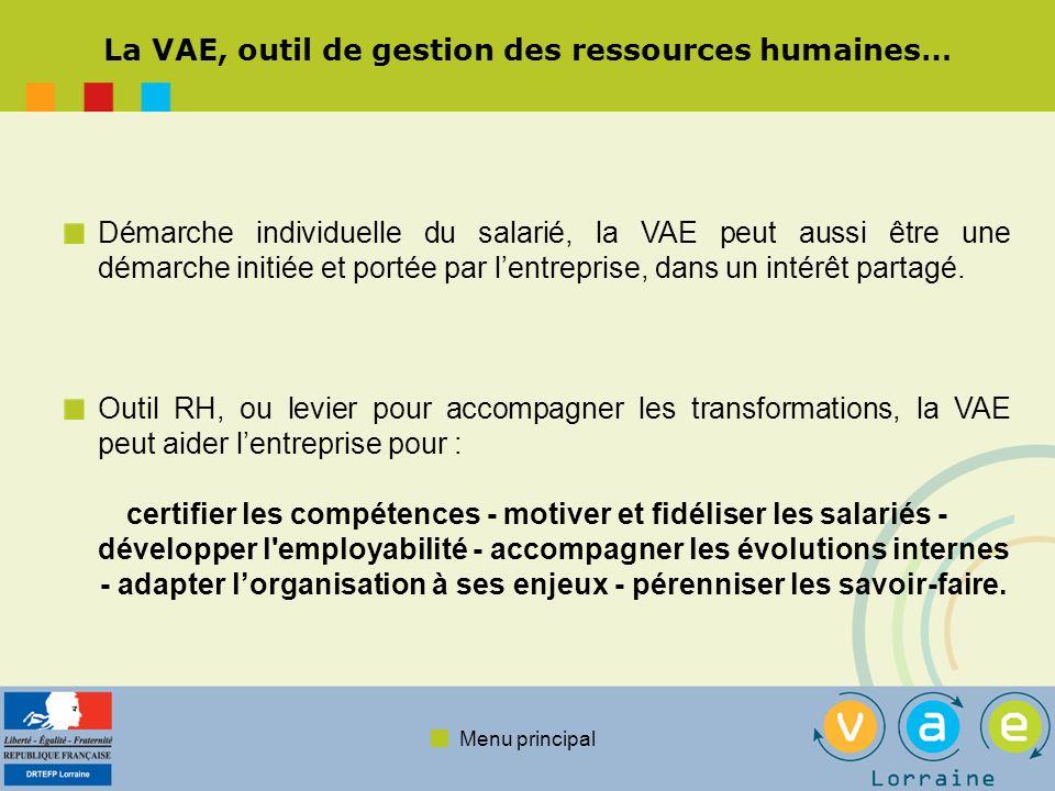 La VAE, outil de gestion des ressources humaines…