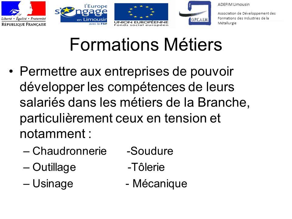 ADEFIM Limousin Association de Développement des Formations des Industries de la Métallurgie. Formations Métiers.
