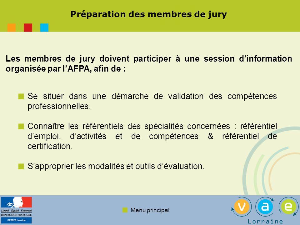 Préparation des membres de jury