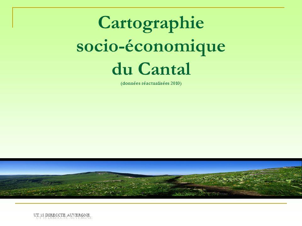 Cartographie socio-économique du Cantal (données réactualisées 2010)