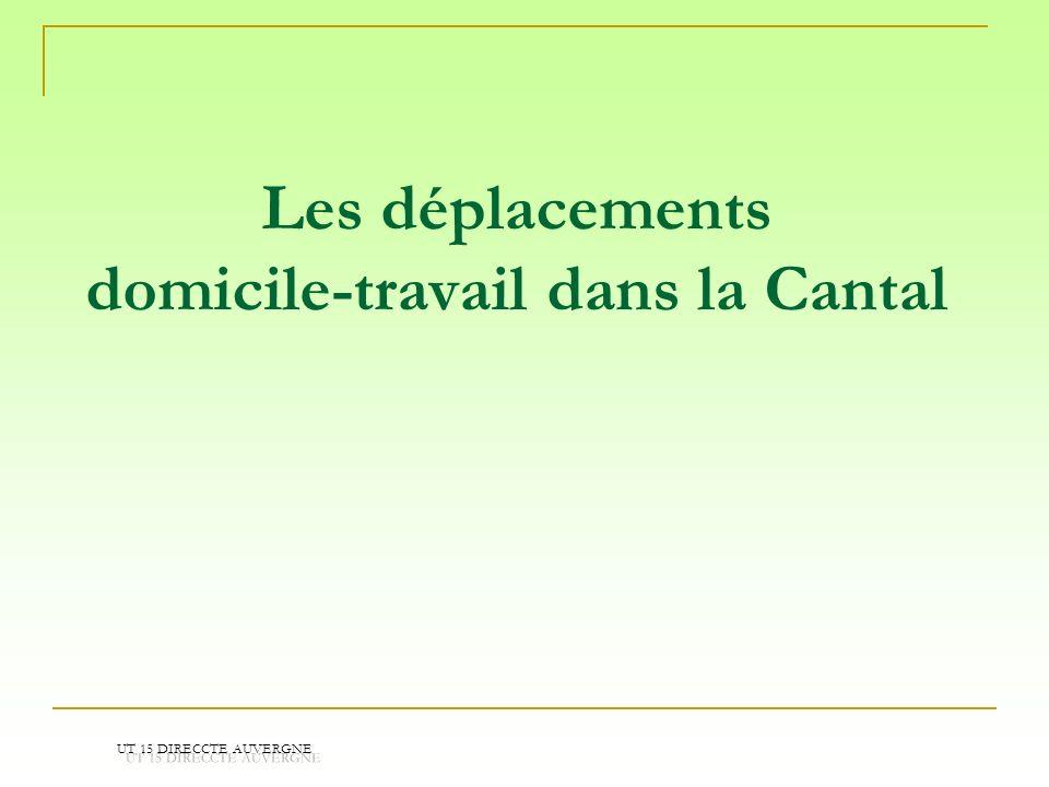 Les déplacements domicile-travail dans la Cantal