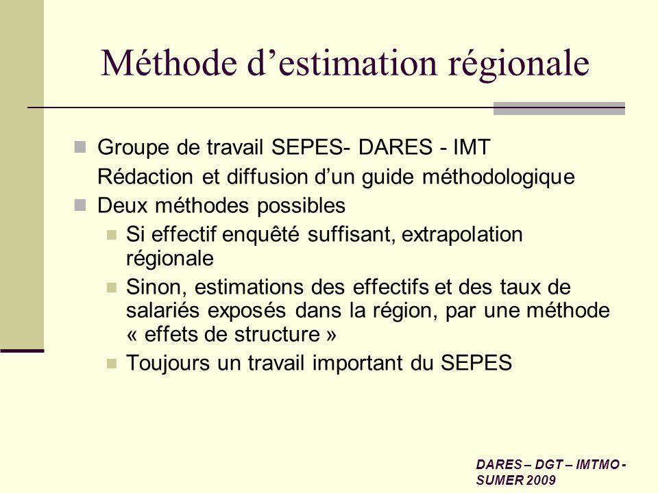 Méthode d'estimation régionale