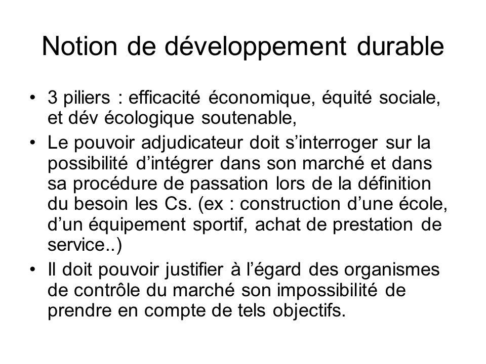 Notion de développement durable
