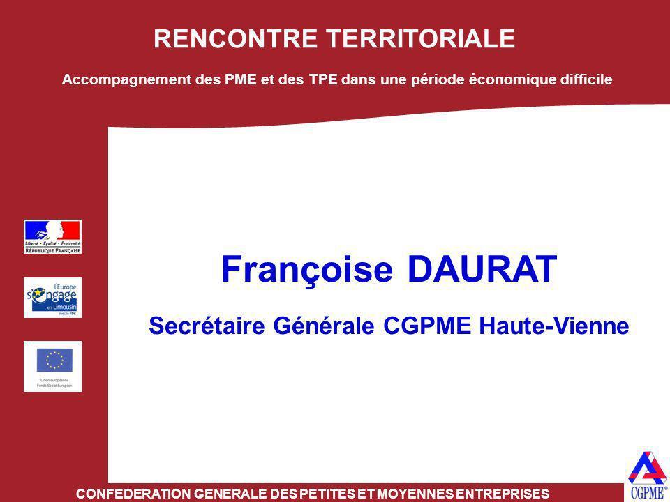Françoise DAURAT RENCONTRE TERRITORIALE