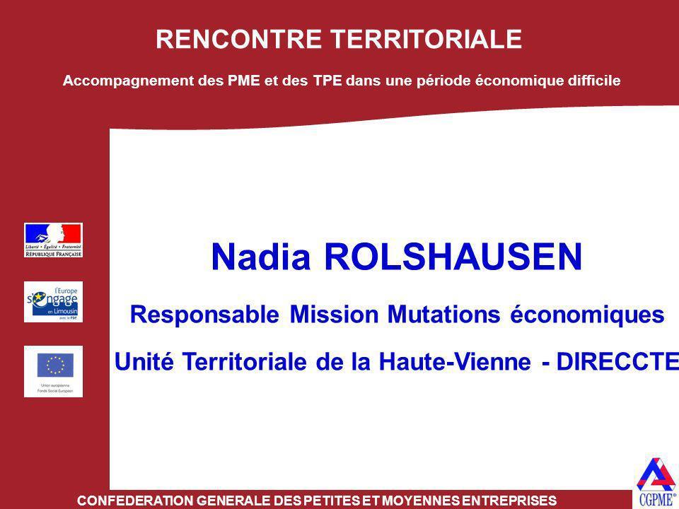 Nadia ROLSHAUSEN RENCONTRE TERRITORIALE